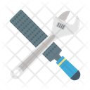 Automotive Tools Carpentry Tools Chisel And Wrench Icon