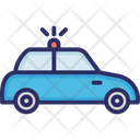 Autonomous Car Cop Police Car Icon