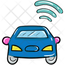 Autonomous Car Wifi Car Driverless Car Icon