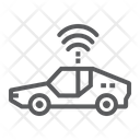 Autonomous Car Technology Icon