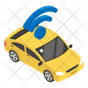 Autonomous Car Wifi Car Driverless Car Icon