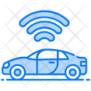 Autonomous Car Autonomous Vehicle Car Wifi Icon