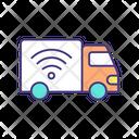 Autonomous Driving Truck Icon