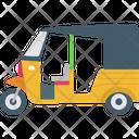 Autorickshaw Rickshaw Transport Icon