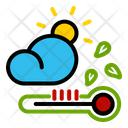 Autumn Thermometer Cloud Icon