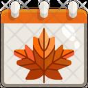 Autumn Calendar Icon