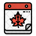 Autumn Season Calendar Icon
