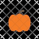 Autumn Flat Pumpkin Icon