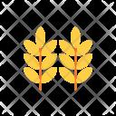 Autumn Flat Wheat Icon