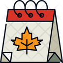 Calendar Autumn Date Icon