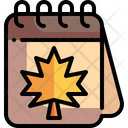 Calendar Season Autumnal Icon