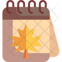 Autumn Season Calendar Season Icon