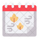 Autumn Season Autumn Date Icon