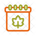 Autumn Calendar Date Icon