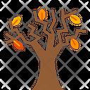 Autumn Tree Dry Tree Fall Season Icon