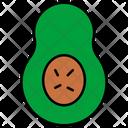 Avacado Eating Health Icon