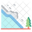 Avalanche Disaster Snow Icon