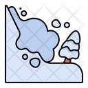 Avalanche Natural Disaster Winter Season Icon