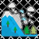 Avalanche Season Winter Icon
