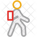 Avatar Student Walking Icon