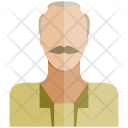 Old Man Human Icon