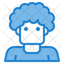 Man Curly Icon