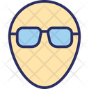 Avatar Face Face With Glasses Icon