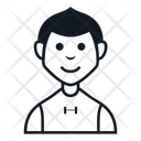 People Character Avatar Smile Glyph Icon