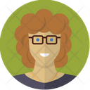 Woman with glasses Icon