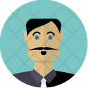 Man with moustache Icon