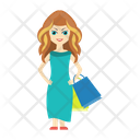 Shopping Girl Buying Icon