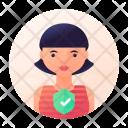 Verified Woman Avatar Icon
