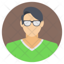 Avatar Glasses Man Icon