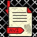 Avi Format File Icon