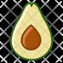 Avocado Fruit Fit Icon