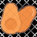 Avocado Half Avocado Pear Icon