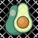 Avocado Fruit Nutrition Icon
