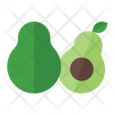 Avocado Organic Vegetarian Icon