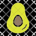 Avocado Avacado Saturated Icon