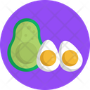 Keto Diet Avocado Eggs Icon