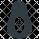 Avocado Half Pear Icon