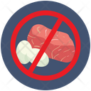 Avoid Consuption Raw Meat Icon
