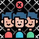 Avoid Crowds Covid Covid 19 Icon