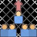 Crowed Distancing Social Icon