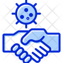 Avoid Hand Shake Hand Shake Virus Protection Icon