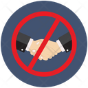 Avoid Hand Shaking Icon