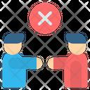No Handshake Contagious Icon