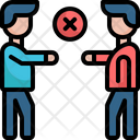 No Handshake Covid Covid 19 Icon