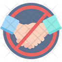 Avoid Avoid Hand Shake Corona Icon