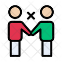 Handshake Notallowed Stop Icon